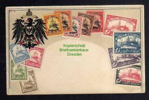 Ansichtskarte Deutsch Südwestafrika DSW Briefmarken Karte Reichsadler