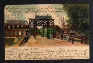 Ansichtskarte Neusalz an der Oder Nowa Sol Hafenbrücke 1905