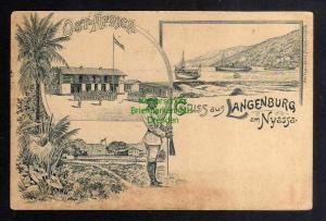 Ansichtskarte Deutsch Ostafrika DOA Langenburg am Nyassa Askari Schutztruppe um 1900