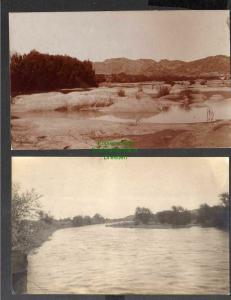 2 Ansichtskarte Deutsch Südwestafrika DSW Fotokarte Kornkip kommt Fluß Wasserstelle