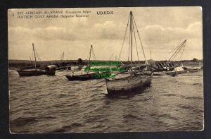 Ansichtskarte Deutsch Ostafrika DOA Belgische Besetzung Ganzsache Udjidji 1916