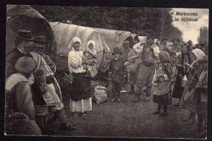 Ansichtskarte Alibnuar Serbien Marktszene Händler Wagen 1. WK Weltkrieg
