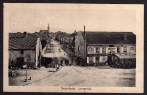 Ansichtskarte Gravelotte Lothringen um 1915 Dorfstraße Hotel du Cheval Gasthof Ross