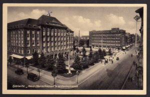 Ansichtskarte Gleiwitz Haus Oberschlesien Wilhelmstr Gliwice 1943