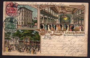Ansichtskarte Leipzig Reudnitz Litho Restaurant Drei Lilien 1907 Eilboten