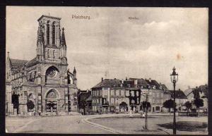 Ansichtskarte Phalsbourg Pfalzburg 1917 Kirche Platz Zensur Lothringen