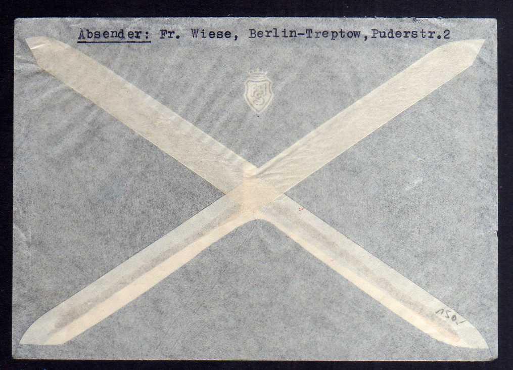 B2698 Brief DR 496 1.- Mark Chicagofahrt auf Brief Deutschlandfahrt 1934 1