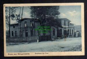 Ansichtskarte Stangenwalde Kr. Rosenberg Westpreußen Gasthaus zur Post 1927