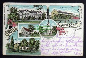 Ansichtskarte Görnsdorf bei Gimmel Kr. Oels Jemielna Litho 1908 Försterei Gasthaus