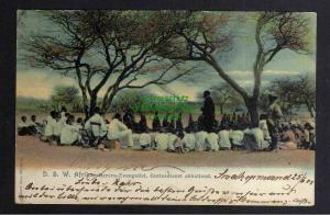 Ansichtskarte DSW Herero Evangelist Gottesdienst Deutsch Südwestafrika Swakopmund