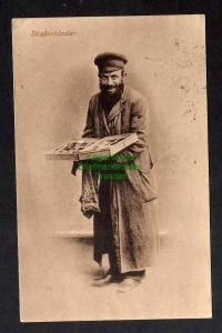 Ansichtskarte Posen Russisch Polen jüdischer Straßenhändler Zensur 1915