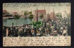 Ansichtskarte Elbing Elblag 1903 Fischmarkt