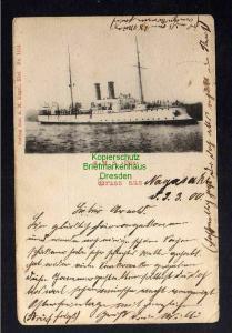 Ansichtskarte SMS Iltis Gruss aus Nagasaki 1900 MSP 20