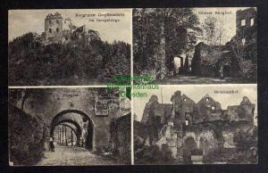 Ansichtskarte Greiffenstein im Isergebirge Burghof Burgtor Brunnenhof 1928