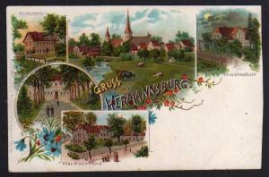 Ansichtskarte Hermannsburg Altes Missionshaus Schule um 1900