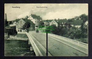 Ansichtskarte Havelberg  Steintorbrücke 1914 Bahnpost Glöwen -  Havelberg ohne Zugnu