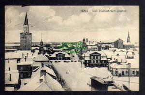 Ansichtskarte Jelgava Mitau 1917 Vom Feuerwehrturm gesehen Winterbild
