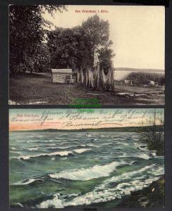 2 Ansichtskarte Arendsee Altmark Fischernetze um 1910