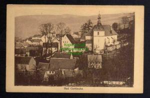 Ansichtskarte Bad Gottleuba Kirche Häuser 1908