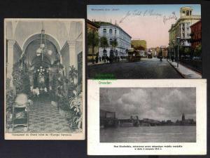 3 Ansichtskarte Warschau Warszawa 1915 Hotel Bristol Zensur 1915 Gepr. Restaurant