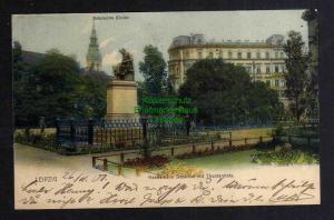 Ansichtskarte Leipzig Hahnemann Denkmal Theaterplatz Reformierte Kirche 1901