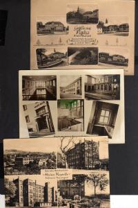 3 Ansichtskarte Pößneck Berufsschule Stadtbad Schwimmhalle Paska um 1960