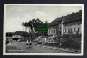 Ansichtskarte Regenwurmlager über Meseritz 1941 Häuser Lager Lagerstraße