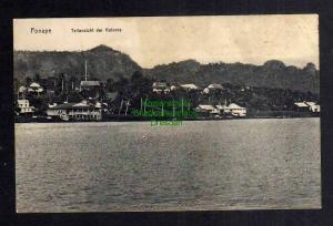 Ansichtskarte Karolinen Ponape um 1910 Teilansicht der Kolonie
