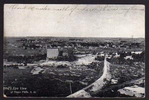 Ansichtskarte Sioux Falls South Dakota Birds Eye View 1909