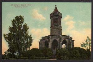 Ansichtskarte St. Johann Saarbrücken Winterberg Denkmal 1906