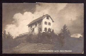 Ansichtskarte Krummholzhütte Nied. Tauern 1922 Bahnpost Bischofshofen - Bruck an der