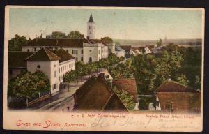 Ansichtskarte Strass Steiermark Cadettenschule 1901 Bahnpost