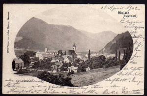 Ansichtskarte Mautern Steiermark 1902 Bahnpost