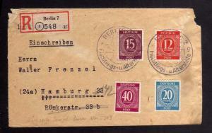 B2729 Brief Berlin 1948 Sowjetische Zensur 5213 SBZ SST Flüchtlings- Altershilfe
