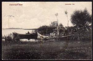 Ansichtskarte Ostseebad Nest Jamunder See Boot 1913 Fuhrwerk Uniescie