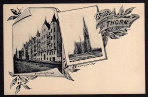 Ansichtskarte Thorn Torun Friedrichstraße Garnisionskirche vor 1905