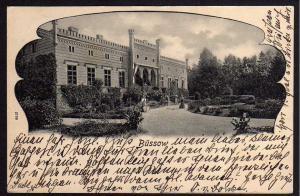 Ansichtskarte Büssow Schloss 1907 Pommern