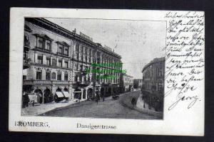 Ansichtskarte Bromberg Wpr. Bydgoszcz Danzigerstrasse 1904 Hotel Adler