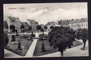 Ansichtskarte Lengefeld Erzgebirge Markt Hotel zur Post um 1910