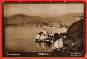 Ansichtskarte Chillon Wasserburg Photoglob Zürich 1897 Genf