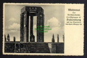 Ansichtskarte Mahnmal der RAD Dienstgruppe Bobersberg Bobrowice um 1940