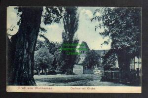 Ansichtskarte Blankensee Trebbin Dorfaue mit Kirche 1910
