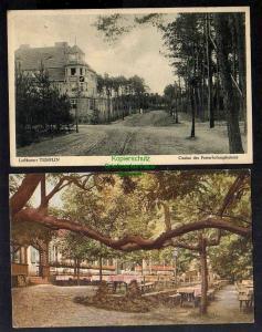 2 Ansichtskarte Templin Casino des Posterholungsheimes 1929 Restaurant Kaffeehaus