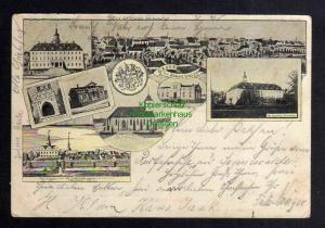 Ansichtskarte Sonnewalde Panorama 1898 Stadtkirche Oberschloss Oberförsterei