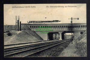 Ansichtskarte Schiffahrtskanal Berlin Stettin Bahnunterführung Eberswalde 1912