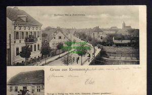 Ansichtskarte Kremmen Berliner Str. 1905 Gasthof und Ausspannung Waegner