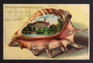 Ansichtskarte Wiesenburg i. Mark Schloss Muschel 1904 Berliner Damen Turnverein