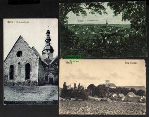 3 Ansichtskarte Belzig 1920 St. Marienkirche Burg Eisenhard