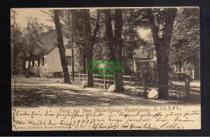 Ansichtskarte Königs Wusterhausen Neue Mühle 1902 Bahnpost Beeskow -