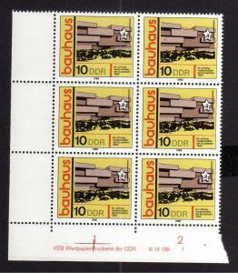 DDR 1980 2509 DV I ** Bauwerke im Bauhaus Stil Weimar Walter Gropius